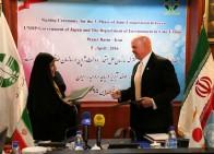امضای سند فاز سوم همکاری احیای دریاچه ارومیه