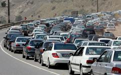 ترافیک سنگین در محورهای هراز و چالوس