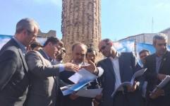 بازدید رئیس سازمان میراث فرهنگی از بناهای تاریخی ارومیه و خوی