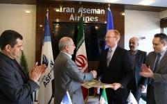 قرارداد خرید 60 فروند هواپیما بین شرکت آسمان و بوئینگ امضا شد