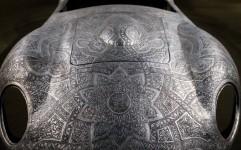 ساخت مازراتی با هنر قلم زنی اصفهان