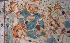 تصویر خسروپرویز در دیوار غار معبد هندی