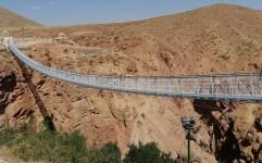 نخستین پل معلق غرب کشور در آوج به بهره برداری رسید