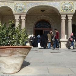 بازدید راهنمایان گردشگری از کاخ گلستان