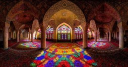 پنج کاشی هفت رنگ مسجد نصیرالملک شیراز به سرقت رفت