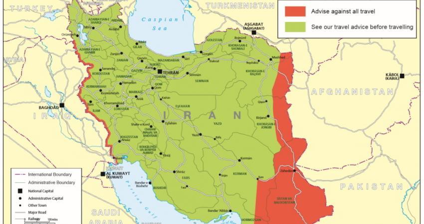 دولت انگلیس هشدار برای سفر به ایران را برداشت