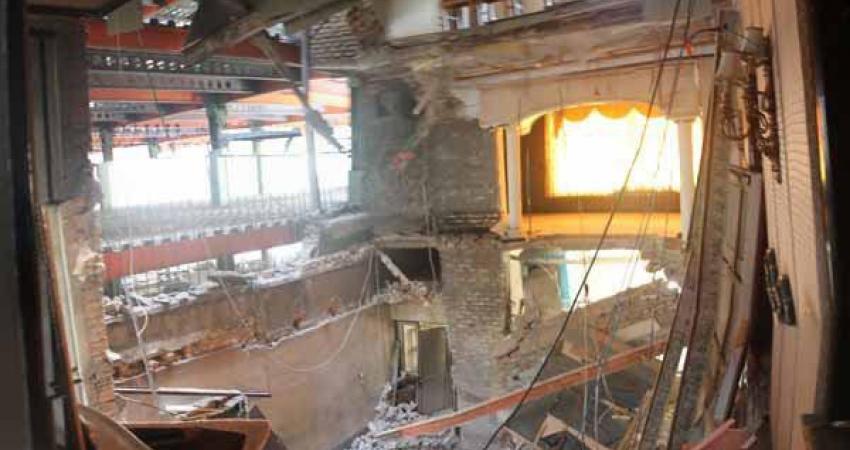 فرو نشستن باشگاه تاریخی ارامنه در اثر ساخت و ساز علاالدین