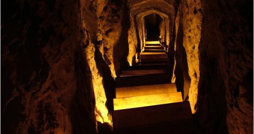 شهر زیرزمینی و تاریخی نوش آباد از شبکه آبرسانی برخوردار بود