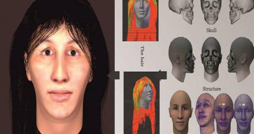 بازسازی چهره زن هفت هزار ساله تهران