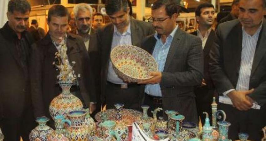 یازدهمین نمایشگاه سراسری صنایع دستی در اراک گشایش یافت