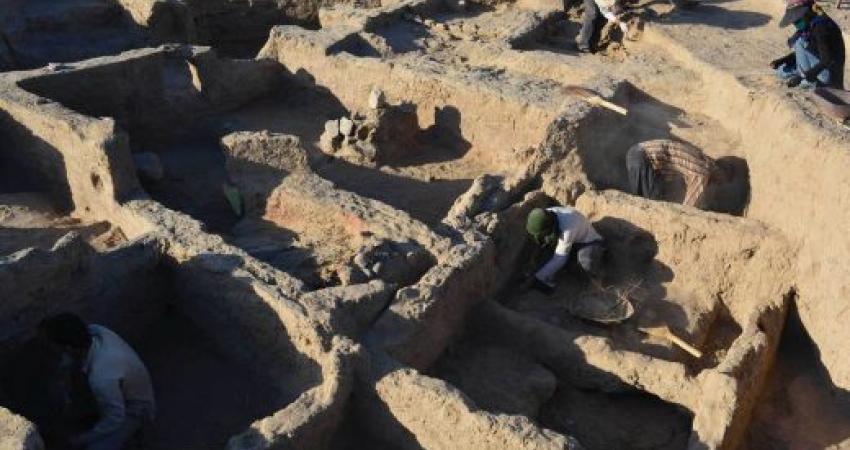 کشف خشت های سیگاری از یک محوطه تاریخی 9 هزار ساله