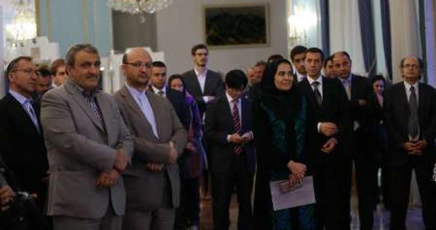 افتتاحیه نمایشگاه همسایگان دور در کاخ نیاوران برگزار شد