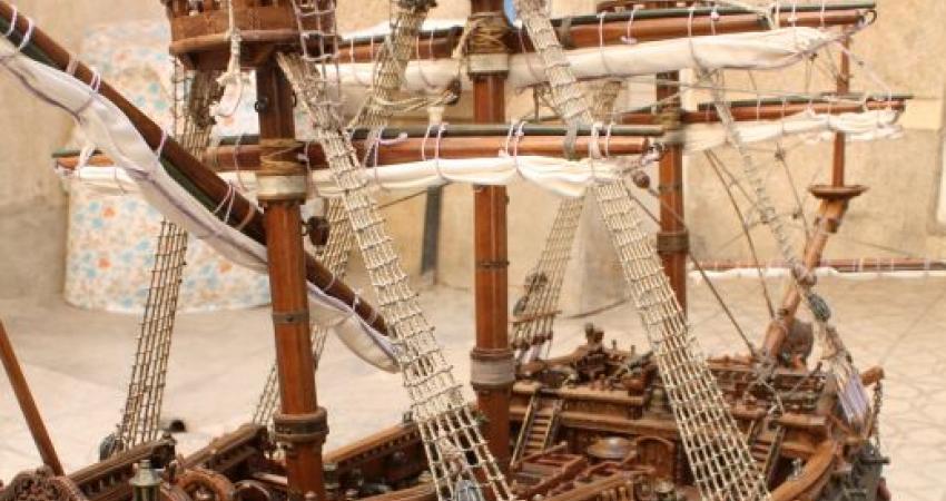 کشتی چوبی فارس در حراجی بزرگ صنایع دستی ایران
