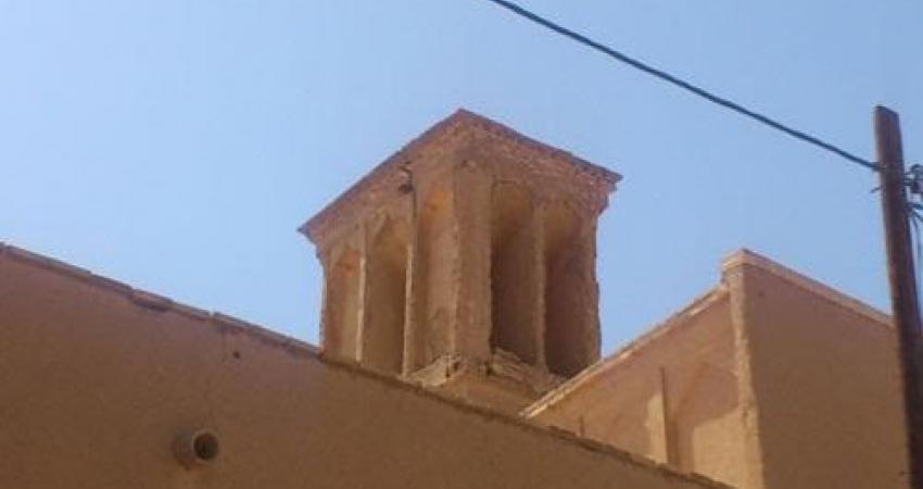 مرمت بادگیر مسجد تاریخی ملا عبدالخالق یزد