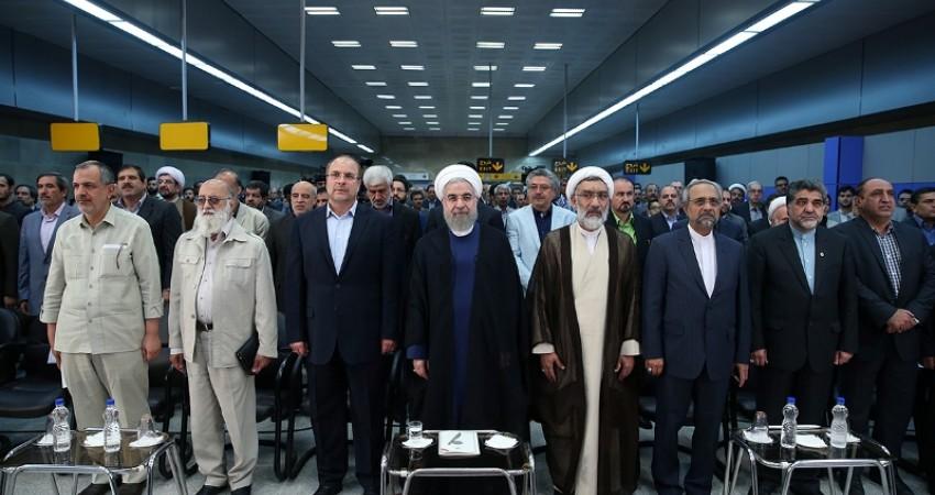 بزرگ ترین خط مترو خاورمیانه با حضور دکتر روحانی افتتاح شد