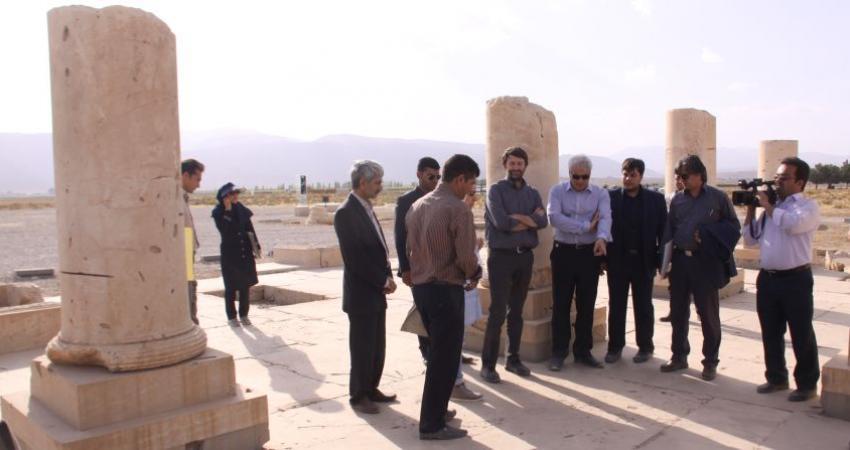 بازدید وزیر میراث فرهنگی و گردشگری ایتالیا از تخت جمشید