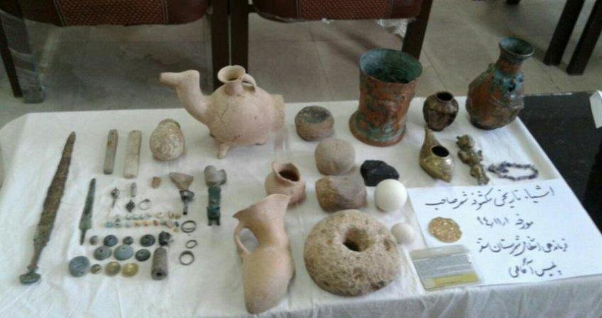 کشف 46 شی عتیقه مربوط به هزاره اول قبل از میلاد در سقز