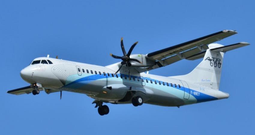 آبان 95، تحویل اولین هواپیمای ATR  به هما