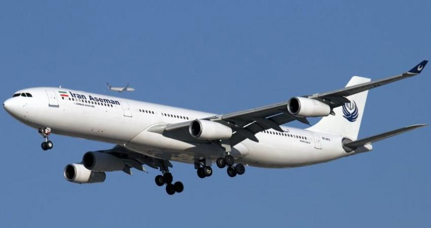 افزایش پرواز شرکت هواپیمایی آسمان در مسیر شیراز - آبادان