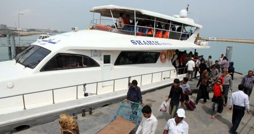 حمل و نقل دریایی بین کیش و سایر نقاط کشور با 7 فروند شناور مسافری