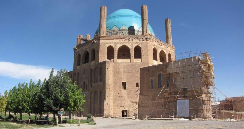 مرمت گنبد سلطانیه بزرگ ترین گنبد آجری جهان