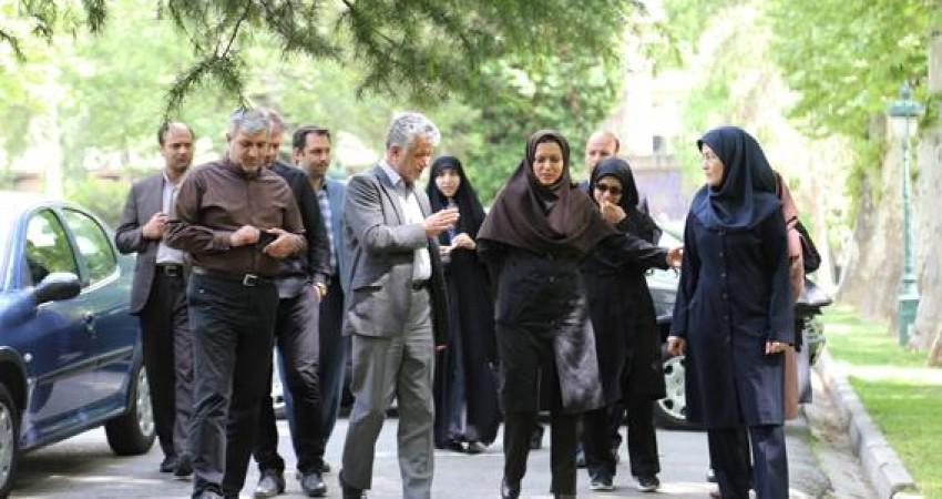 بازدید تخصصی مدیران سازمان مدیریت و برنامه ریزی از کاخ نیاوران