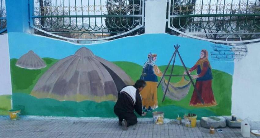 دیوار جاذبه های گردشگری در مشکین شهر