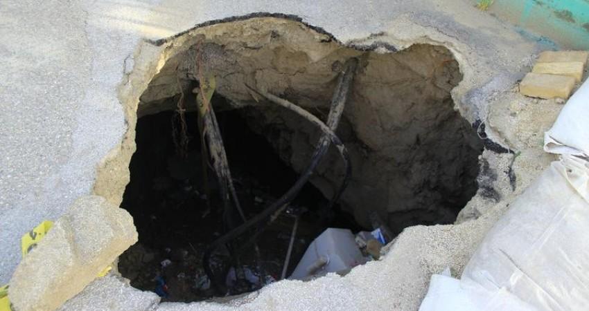 سقف شهر زیرزمینی «سامن» فرو ریخت