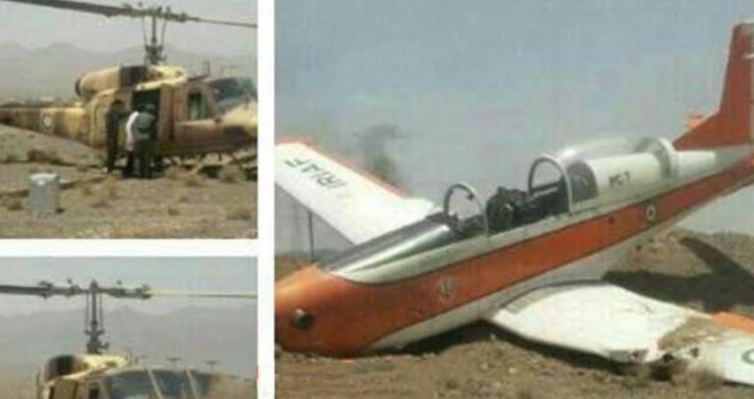 سقوط هواپیمای آموزشی در اصفهان