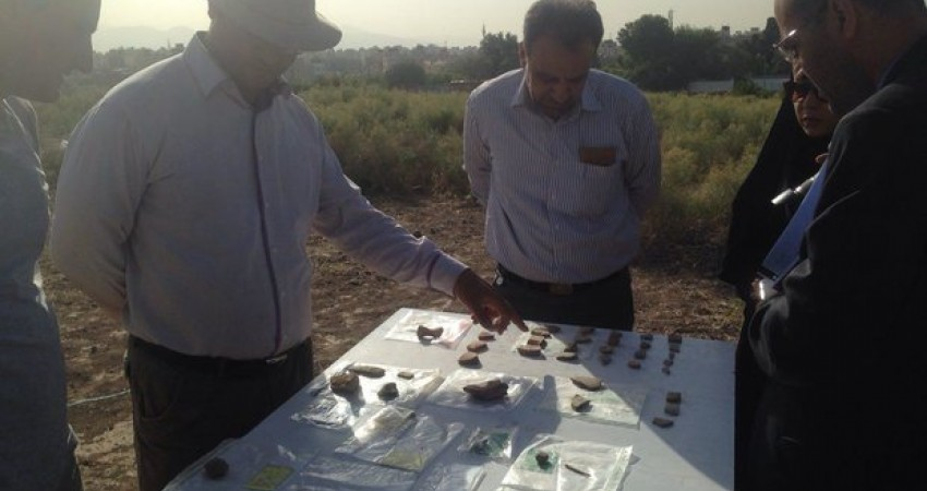 کشف هزار قطعه شیء باستانی در تپه پوستچی شیراز