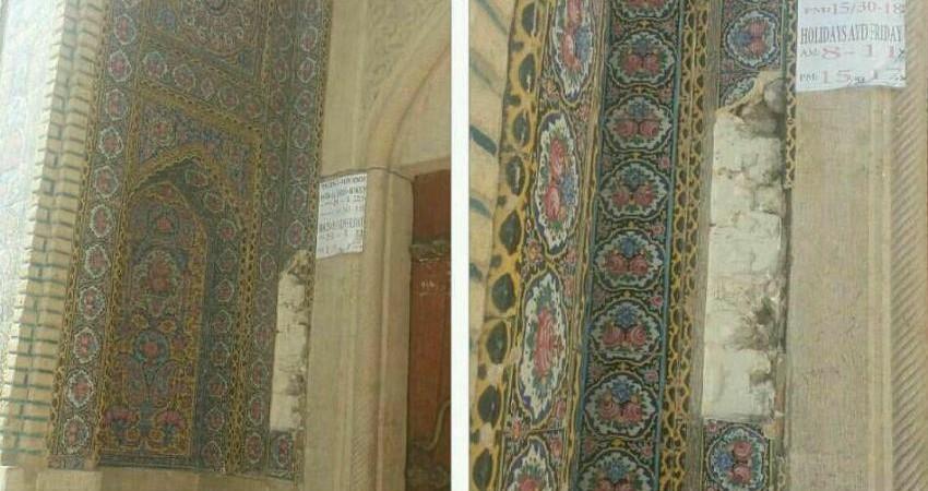 سارق کاشی های مسجد نصیرالملک دستگیر شد