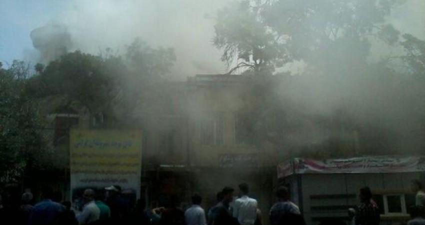 آتش سوزی در میدان تاریخی همدان