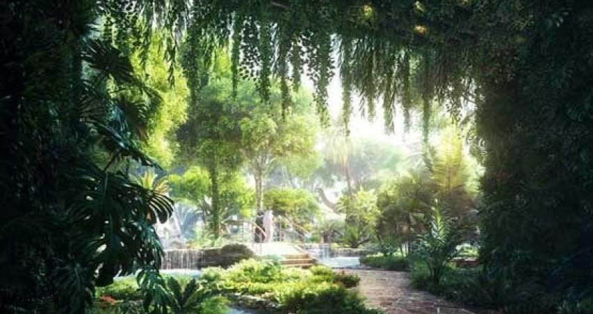 هتل جدید دبی با جنگل استوایی