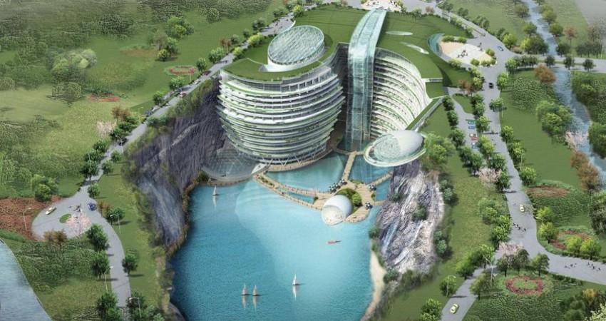 زیباترین هتل جهان در دل معدن سنگ
