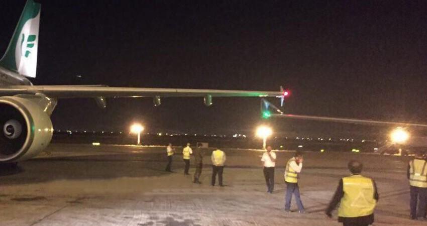 برخورد ماهان ایر و عمان ایر در فرودگاه امام