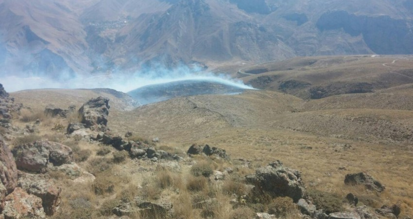گردشگران 10 هکتار از مراتع دماوند را سوزاندند!
