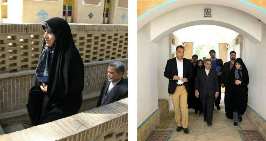 معاون رییس جمهوری از هتل باغ مشیر الممالک یزد بازدید کرد