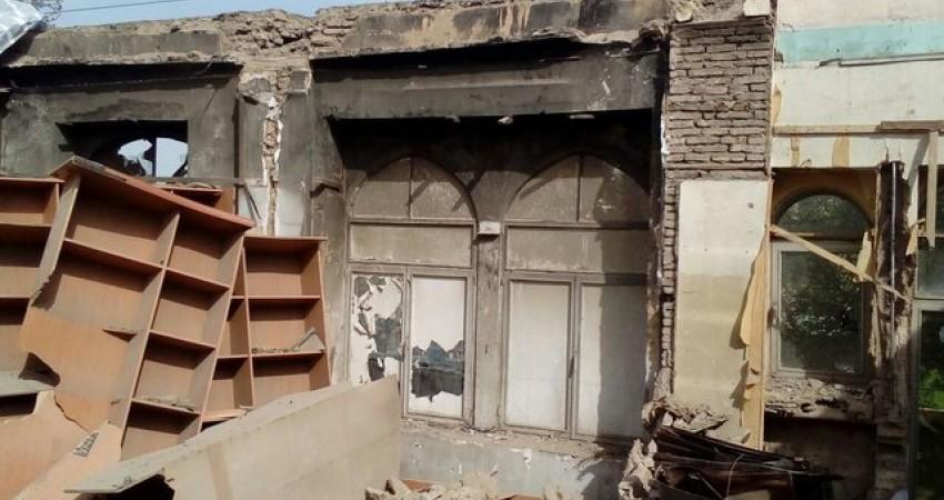 ماجرای آتش سوزی خانه قاجاری در کرمانشاه