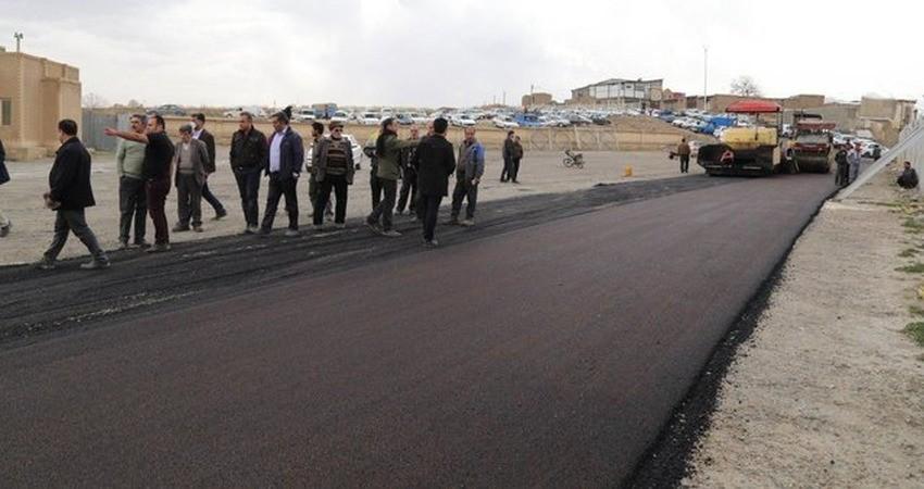 آسفالت شدن 450 متر از عرصه تاریخی هگمتانه