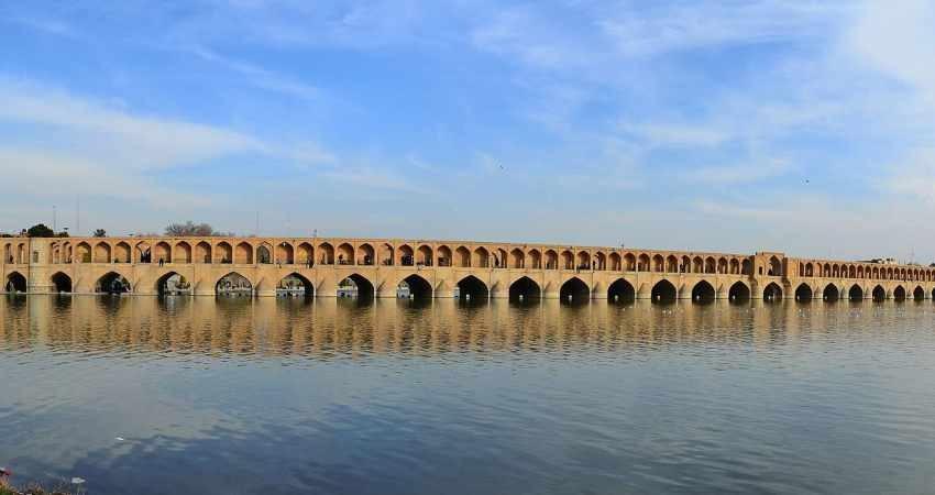 دهانه های سی و سه پل مسدود می شود