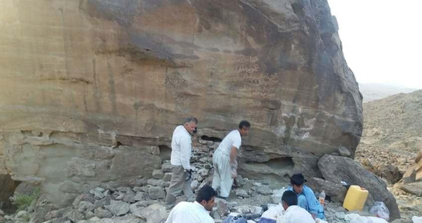 آغاز مرمت و حفاظت کتیبه شاهوگت در روستای تابکی تل نیکشهر