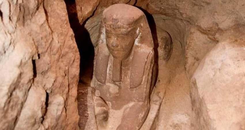کشف یک مجسمه ابوالهول در مصر
