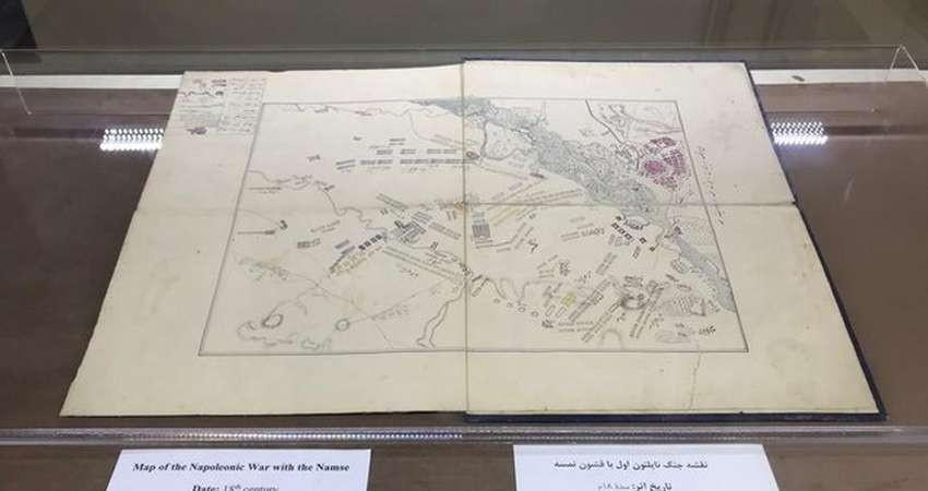 نقشه جنگ ناپلئون در کاخ گلستان