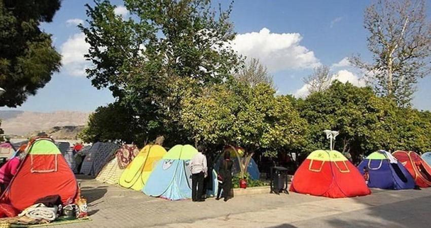 مسافران به هتل نیامدند، در چادر و ویلا ماندند!