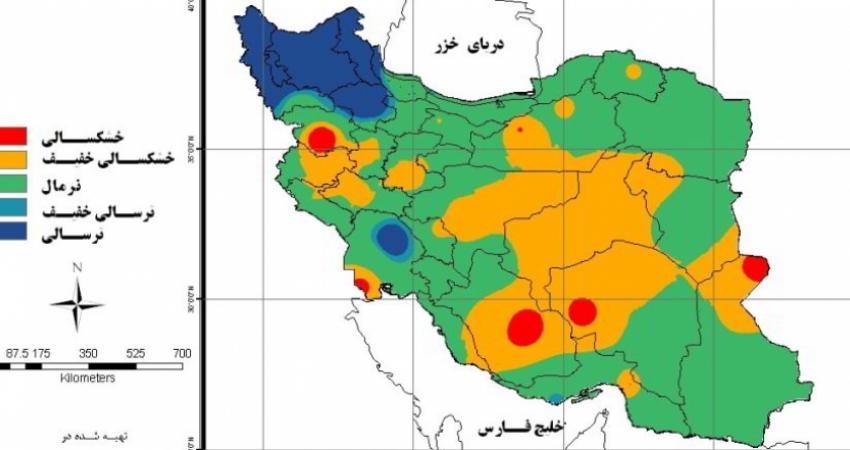 فهرست استان های دچار خشکسالی