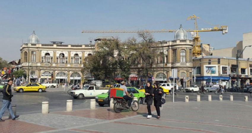 تجاوز ساختمان های تجاری به حریم بصری میدان حسن آباد