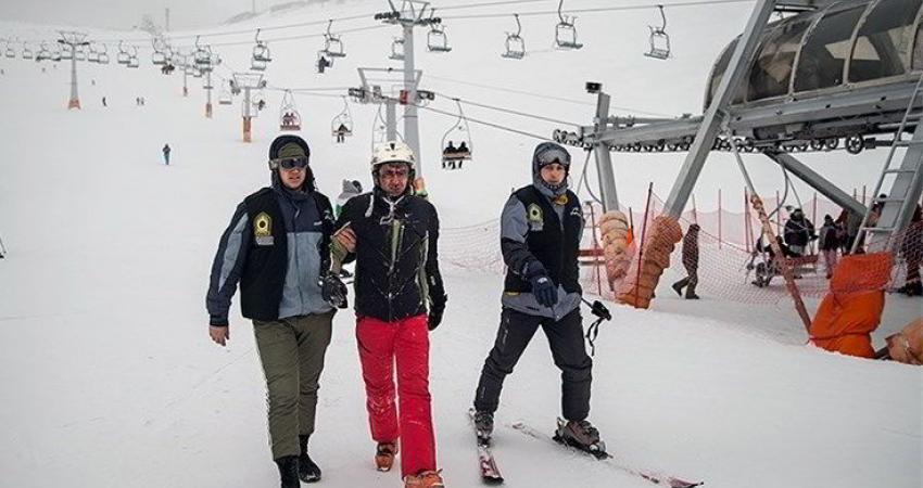 استقرار مامورین اسکی سوار پلیس پایتخت در پیست های اسکی