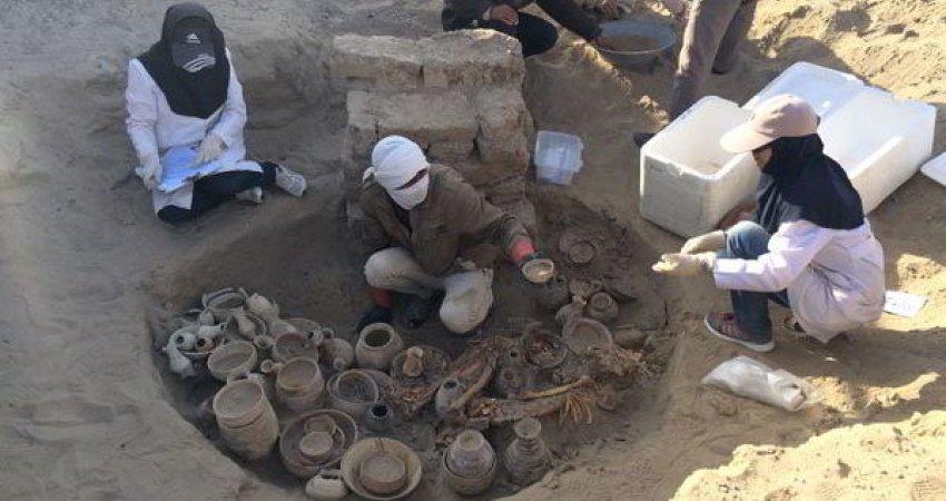 کشف قبر زنی ثروتمند در شهر سوخته