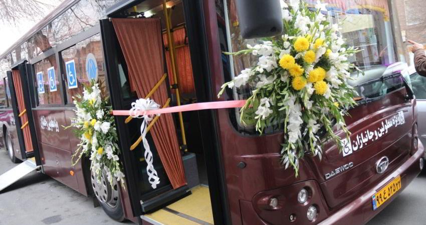 وجود 1113 دستگاه اتوبوس مناسب سازی شده برای معلولان