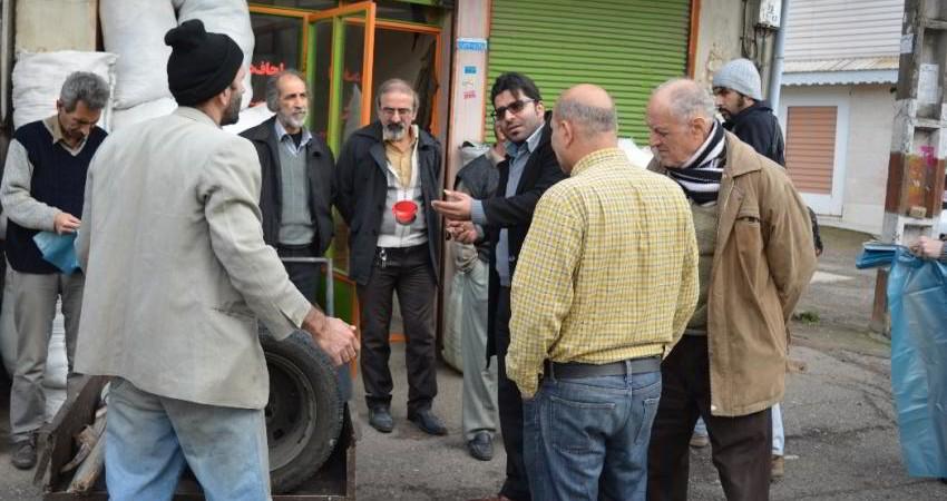 آموزش تفکیک زباله در سومین روز کمپین نمایش شهر پاک در رشت